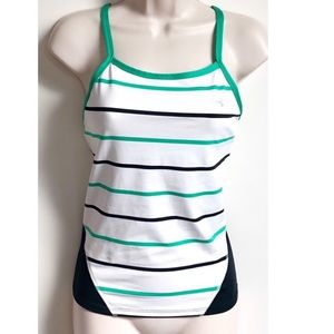 Under Armour striped fitted tank top